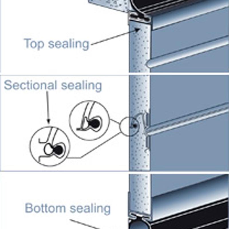Joints d'étanchéité porte sectionnelle