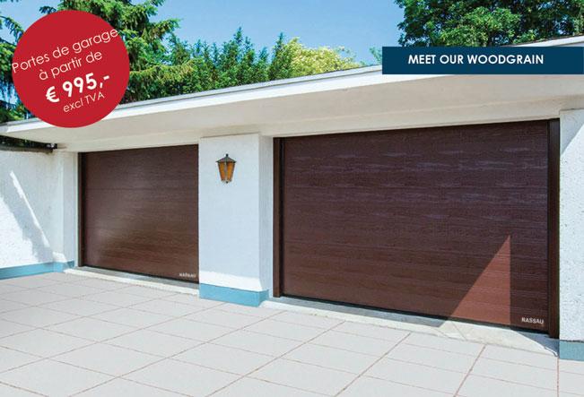 Porte de garage Woodgrain NASSAU